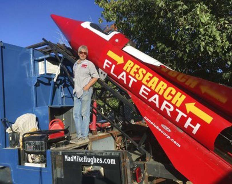 'Mad' Mike Hughes cancels rocket launch to prove Earth is flat