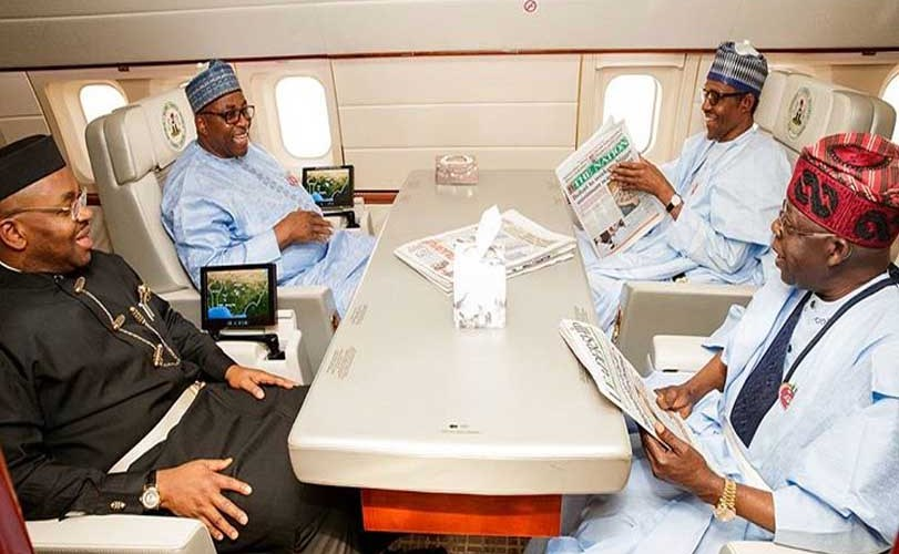 Tinubu, Udom and others accompanies Buhari to Abidjan For EU-AU Summit