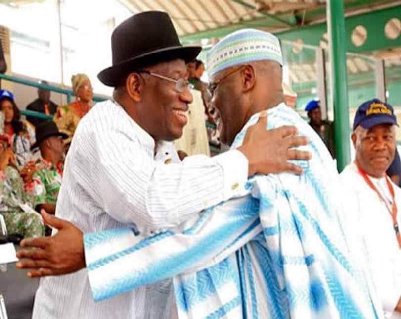 """It's good to be back home"" – Atiku Abubakar embraces Good luck Jonathan"