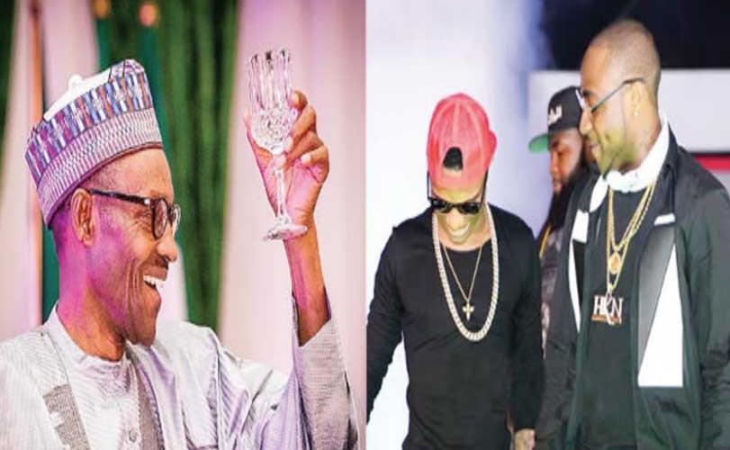 Buhari advises Wizkid, Davido to avoid distractions