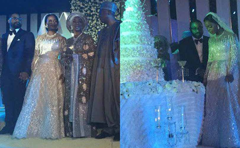 Photos: Aliko Dangote, Obasanjo, Femi Otedola, Aisha Buhari, Patience Jonathan, Dino Melaye,  Chris Ngige, others at Bukola Saraki's daughter's wedding