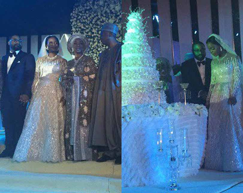 Photos: Aliko Dangote, Obasanjo,Femi Otedola, Aisha Buhari, Patience Jonathan, Dino Melaye, Chris Ngige, others at Bukola Saraki's daughter's wedding