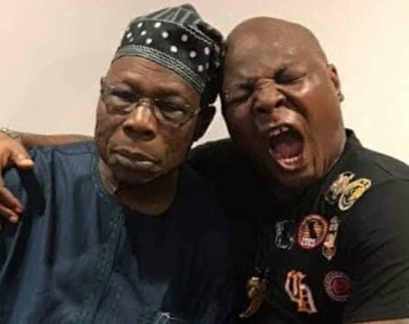 Photos: Charly Boy shares pictures from his visit to Obasanjo