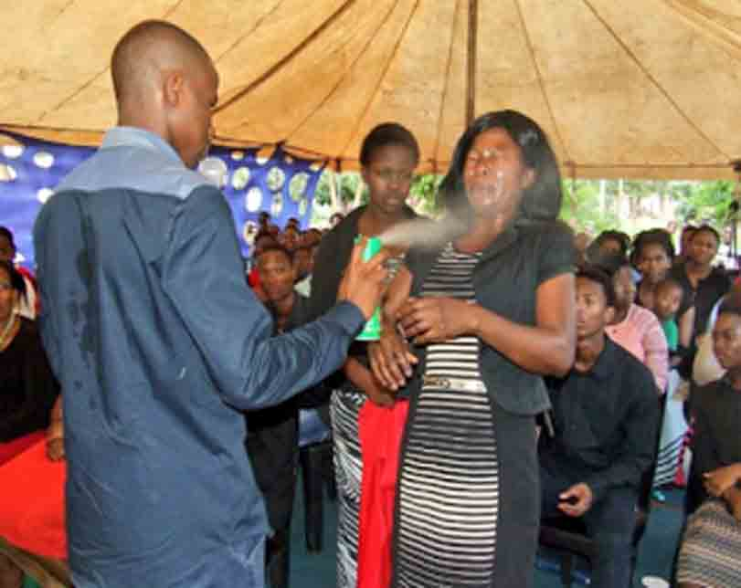 Congregants experiencing health issues after being sprayed with insecticide by South African prophet