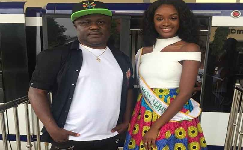 See the Cross River state Gov. Ben Ayade's outfit as he visited the #MissAfrica2017 Calabar contestants