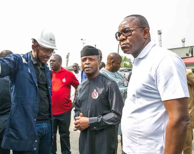 VP Yemi Osinbajo continues his checks on fuel stations & depots, meets with oil marketers on Christmas day