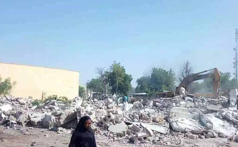 Borno PDP secretariat demolished, party accuses Governor Shettima of complicity