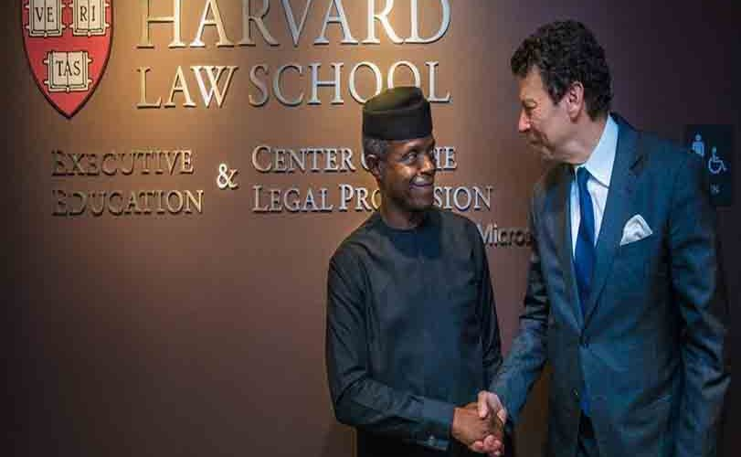 Photos from VP Osinbajo's lecture at Harvard university