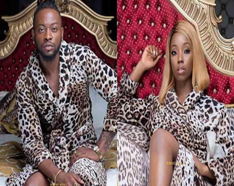 #BBNaija: Bambam and Teddy A Dish Out Relationship Goals While Rock Matching Bathrobe