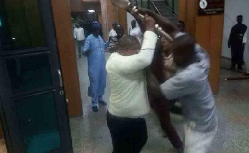 Thugs Invade Senate, Snatch Mace