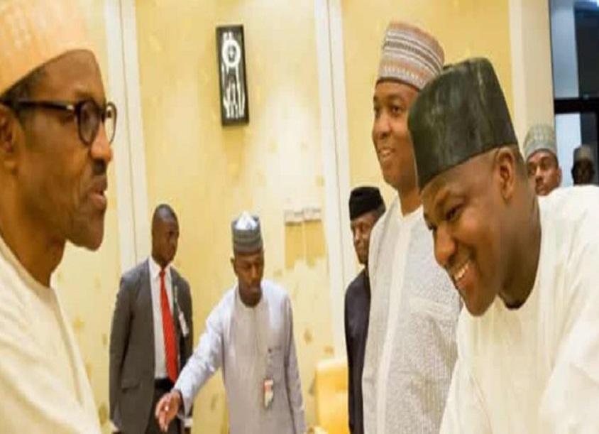 Buhari, Saraki, Dogara meet inside Aso Rock