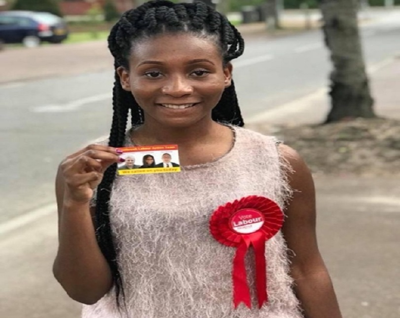 Incredible! Meet Princess Elizabeth Bright, The Youngest Nigerian Councillor In The UK (Photos)