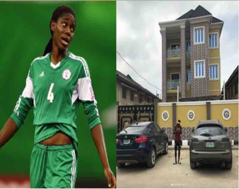 Super Falcon, Asisat Oshoala Buys A House For Her Parents (Photos)