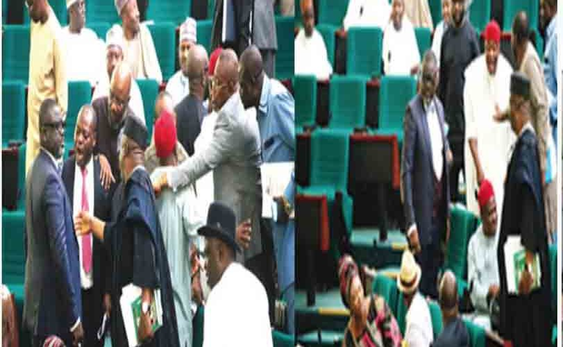 Jubilation At House Of Reps Over Defection Of 13 APC Senators To PDP