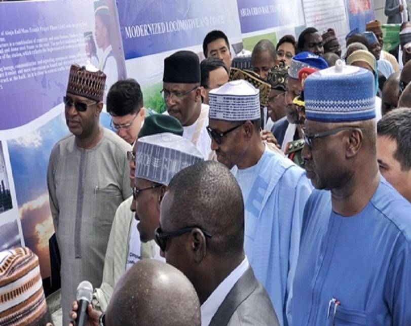 Buhari Commissions Abuja Light Rail Mass Transit Covering 12 Stations (Photos)