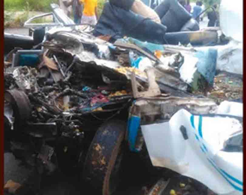 3 Killed, Passengers Thrown Off In Different Directions As Car Crashes Against Truck In Ondo