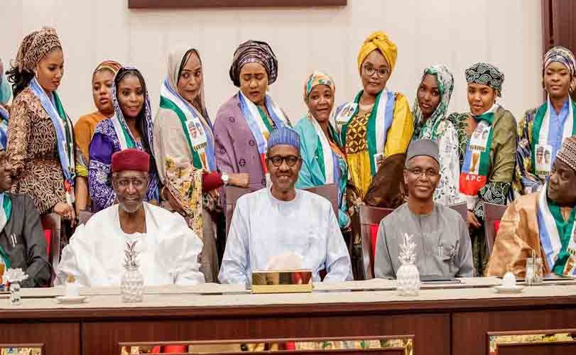 Photos Of President Buhari Hosting Kannywood Actors Inside Aso Rock