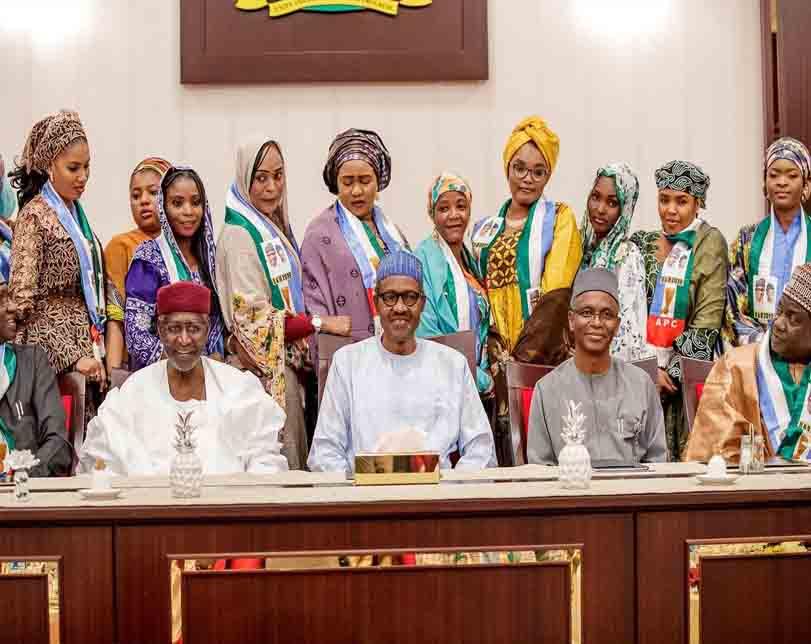 Photos Of President Buhari Hosting Kannywood Actors Inside Aso Rock