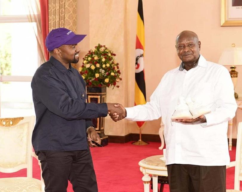 President Museveni Hosts American Rapper, Kanye West And Kim Kardashian In Uganda (Photos)