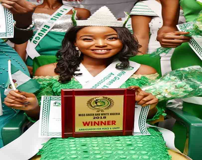 Lucy Onyinye Joseph Emerges Winner At Miss Green and White Nigeria Peace Pageant 2018