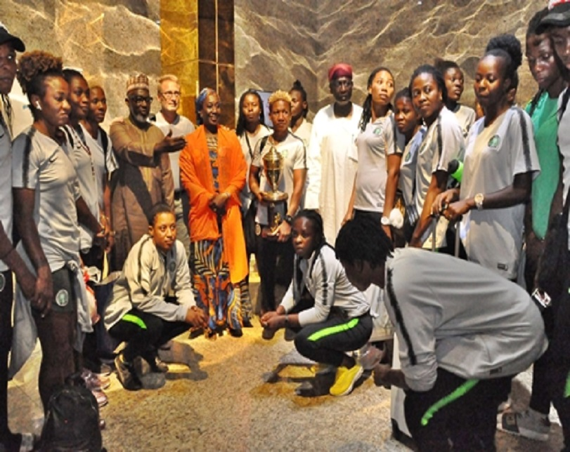 Presidency, NFF Welcome Super Falcons As Dangote, Rabiu Splashes N75m On AWCON Champions