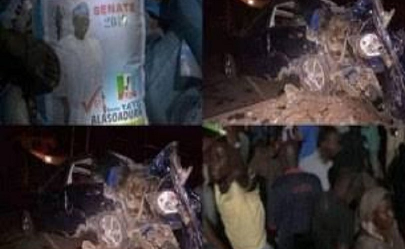 Tears Flow As 15 Die In Ekiti Crash Caused By Trailer Carrying APC Senator's Rice