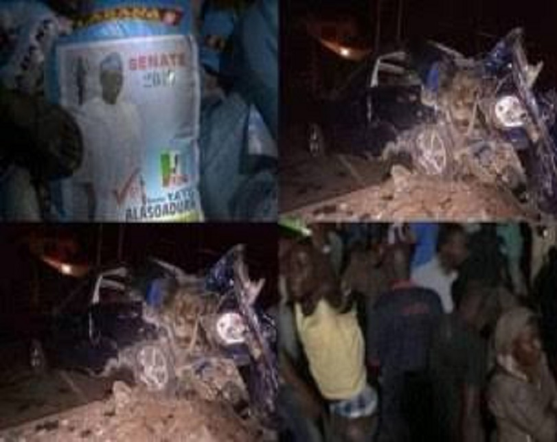 Tears Flow As 15 Die In Ekiti Crash Caused By Trailer Carrying APC Senator's Rice