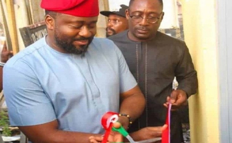 Nigerians Blast Desmond Elliot For Commissioning A Public Toilet (Photos)