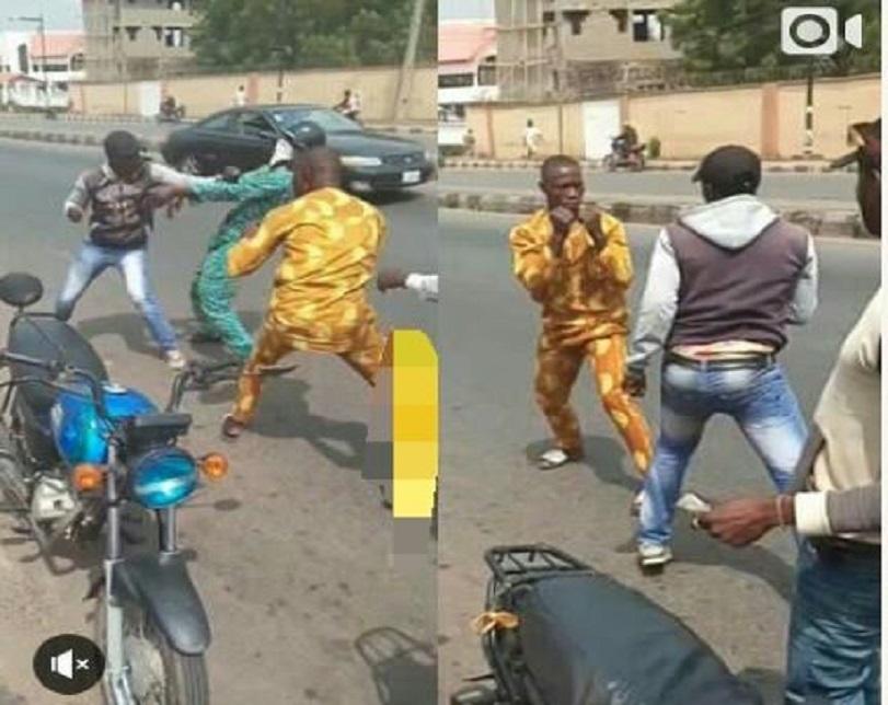 Okada Rider And Passenger Exchange Heavy Blows Over N50 In Ibadan (Video)