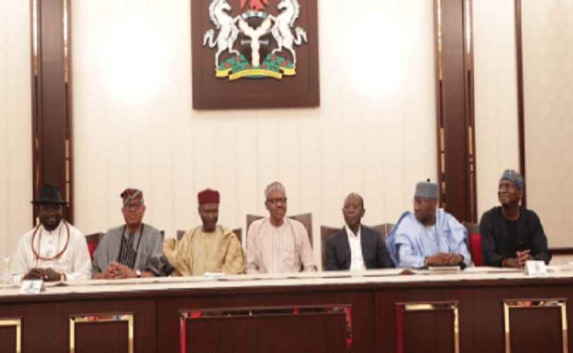 Buhari Hosts Fashola, Others After APC Victory (Photos)