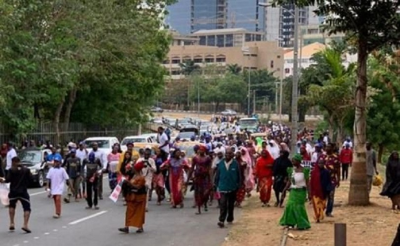 Presidential election tribunal: Protesting women invade court premises on Atiku's behalf