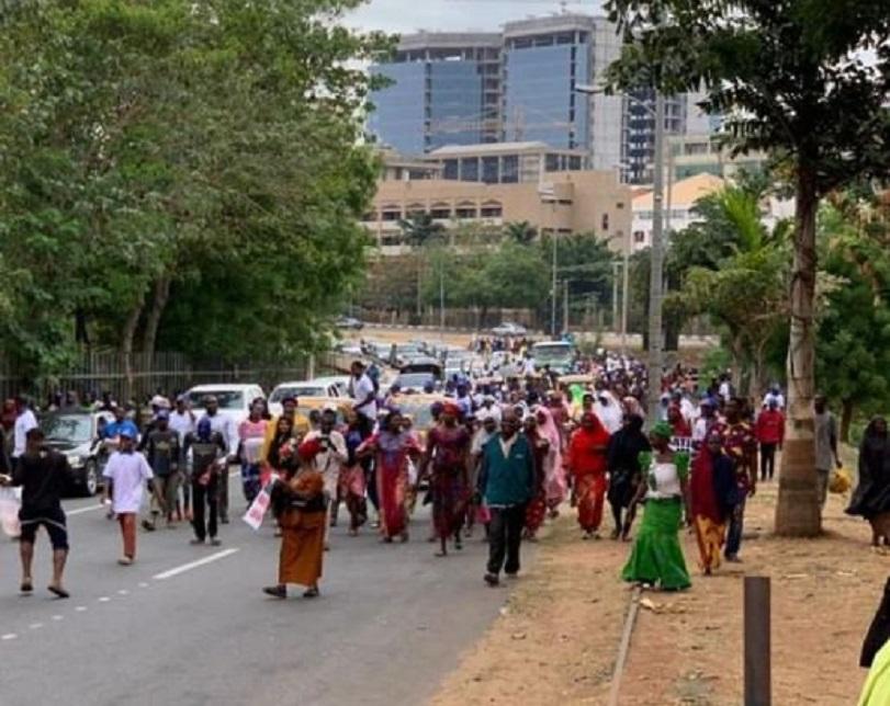 Presidential election tribunal: Protesting women invade court premises on Atiku's behalf
