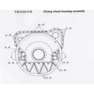 WEICHAI LOW PRESSURE OIL PIPE ASSEMBLY