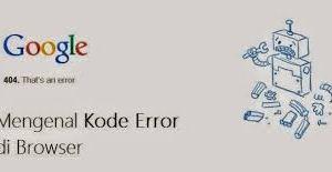 Solusi Mengatasi Error pada Halaman Web