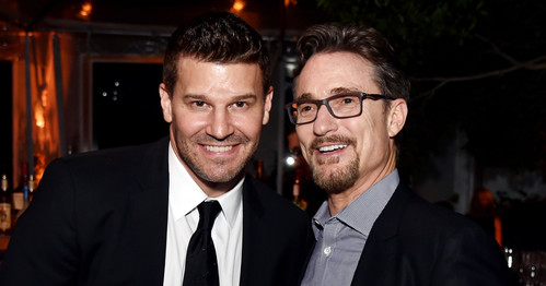 Barry Josephson e David Boreanaz al party per Bones 200