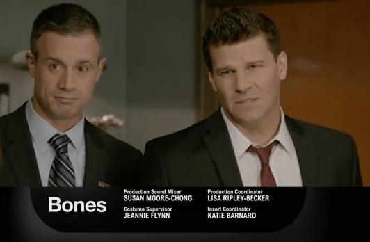 David Boreanaz e Freddie Prinze Jr in Bones 9x16