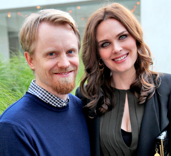 Emily Deschanel e il marito David Hornsby
