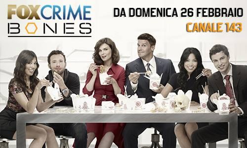 Fox Crime Bones su Sky dal 26 febbraio