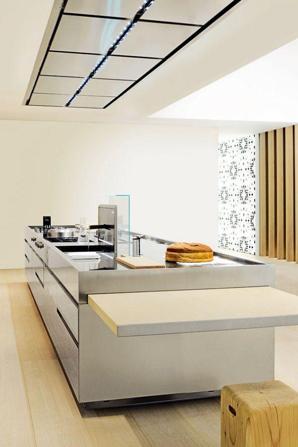 Cocina minimalista con isla  Imgenes y fotos