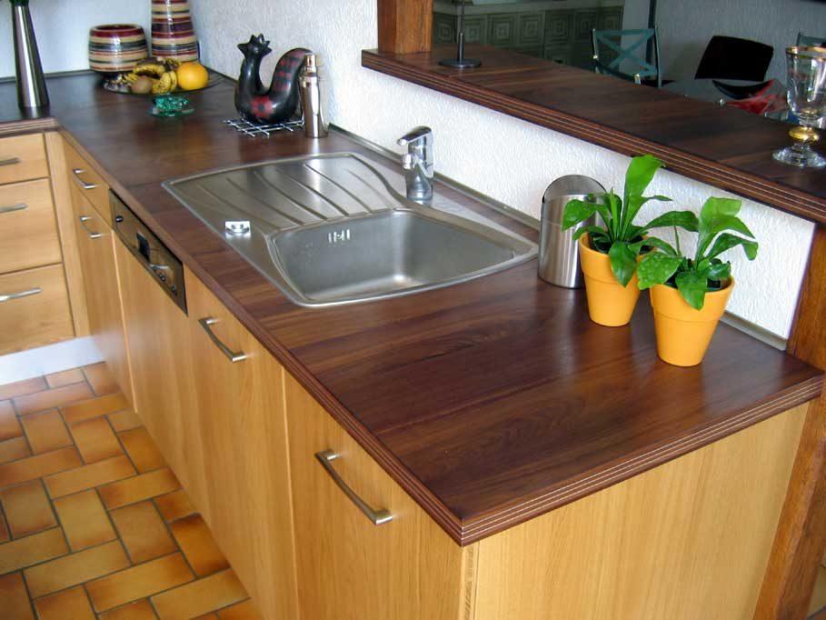 Encimera de cocina de madera  Imgenes y fotos