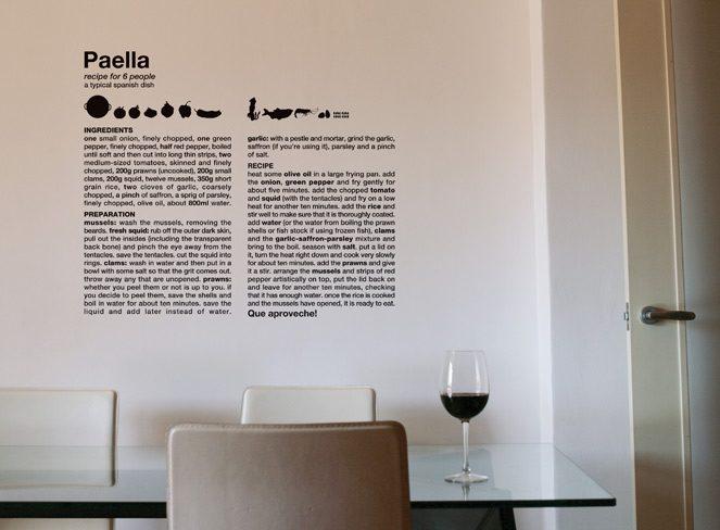 Texto decorativo para la cocina  Imgenes y fotos