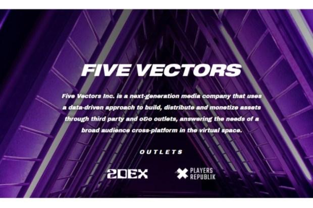 five-vectors Five Vectors Closes $1M Seed Round Led By BITKRAFT Esports Ventures