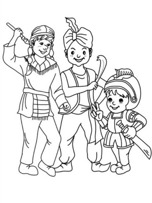 Coloring Pages Of Mexico Fiesta