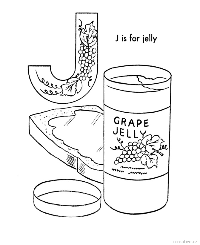 J Is For Jelly Bean Pages Coloring Pages