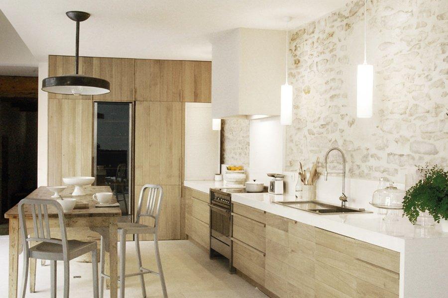 Magnfica casa de campo de paredes de piedra Decoracin del hogar