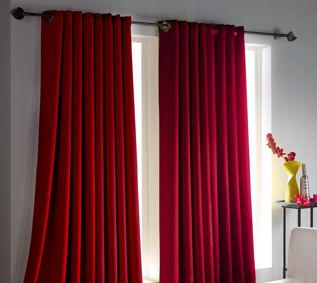 Cortinas para una decoracin roja Decoracin del hogar