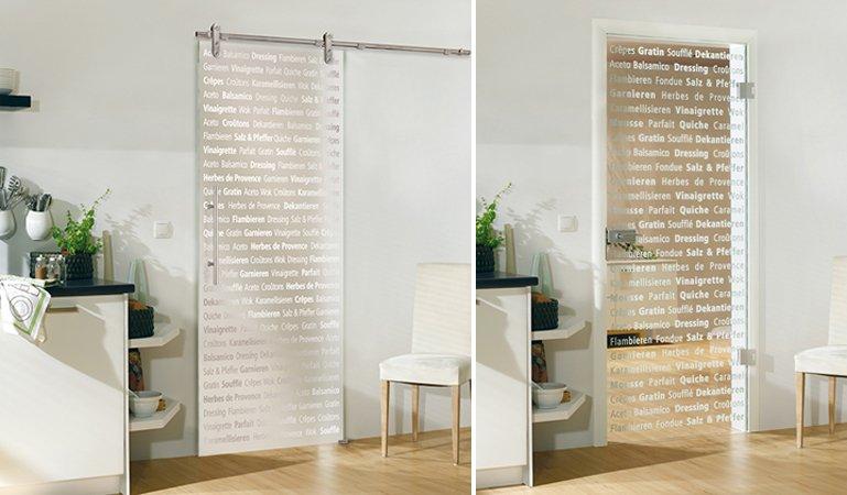Puertas de cristal decorativo para la cocina Decoracin
