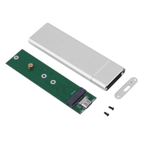 USB 3.1 Type-C to M.2 NVME PCIe M-Key SSD, M.2 NGFF SATA SSD Enclosure Case Box