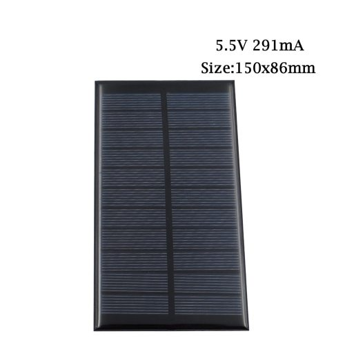 5.5V mini Solar Panel Cell System DIY For Battery Charge 70mA - 291mA