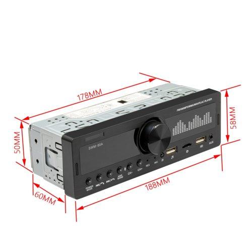 1 DIN Car Radio Dual Screen Bluetooth Multimedia MP3 Stereo Audio Player